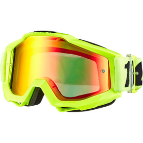 100% Accuri Anti Fog Mirror Goggles, flue/yellow